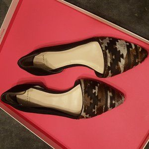 Cole Haan Pony Hair & Black Suede Flats
